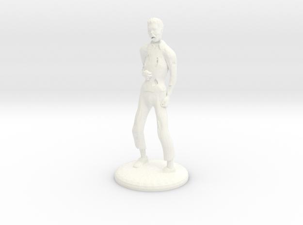 Zombie - 25mm in White Processed Versatile Plastic