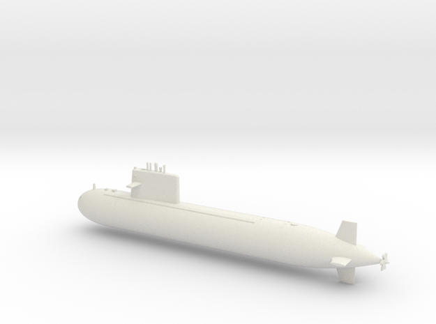 1/600 Type 091 Submarine in White Strong & Flexible