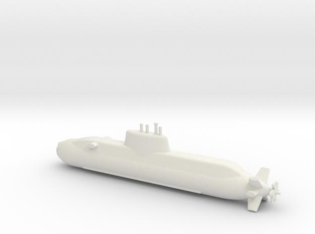 1/600 Dolphin class submarine in White Natural Versatile Plastic