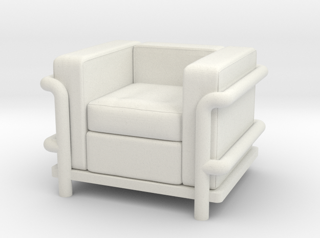 Le Corbusier chair in White Strong & Flexible