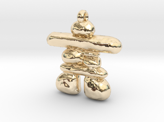 Inukshuk in 14K Yellow Gold