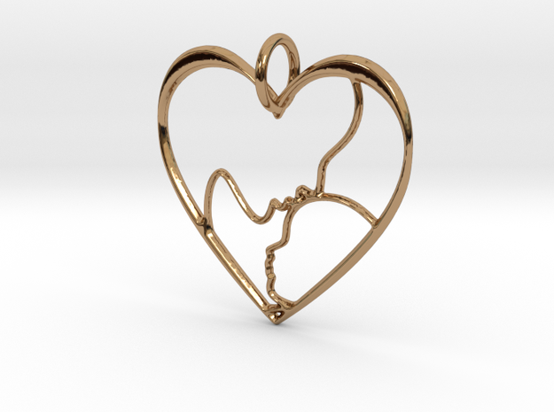 Mother and Child Heart Pendant