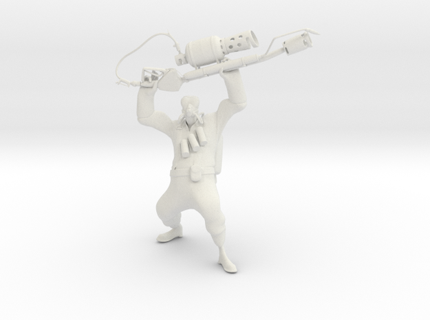 TF2 Pyro (proof of concept) in White Natural Versatile Plastic