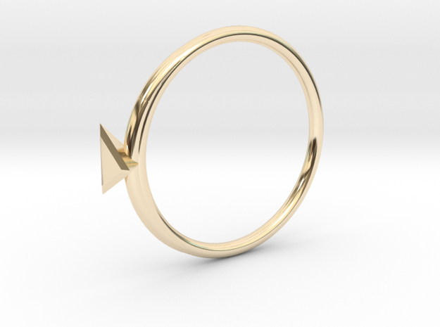 Ring Tetrahedron in 14k Gold Plated Brass: 4 / 46.5