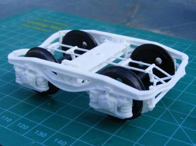 Y25 bogie 7mm Pair in White Strong & Flexible