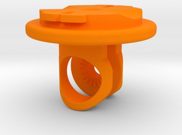 Virb / Garmin Quarter-turn Adapter Mount in Orange Strong & Flexible Polished