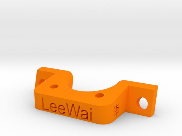 B5M Front Wing Mount in Orange Processed Versatile Plastic