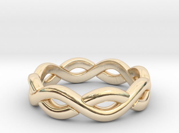Zig Zag Double Ring. US Size 6 in 14k Gold Plated