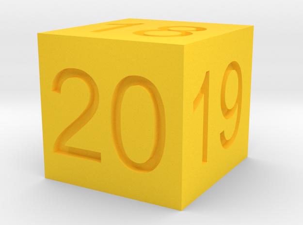 18,19,20 Ride Height Gauge in Yellow Processed Versatile Plastic