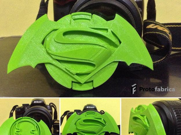 Protofabrica Custom Lens Cap Dawn Of Justice in Green Strong & Flexible Polished