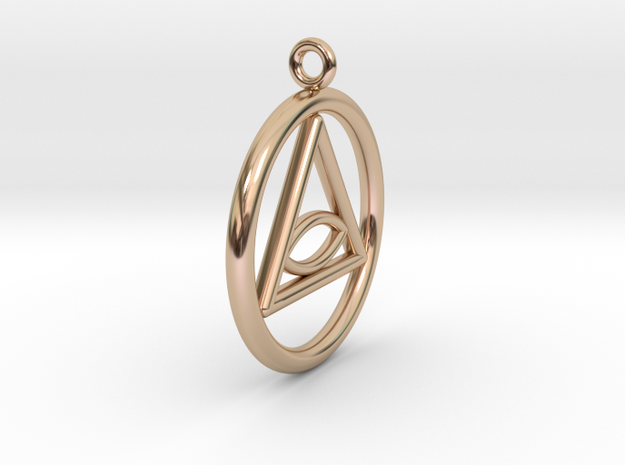 Eye Necklace in 14k Rose Gold Plated Brass