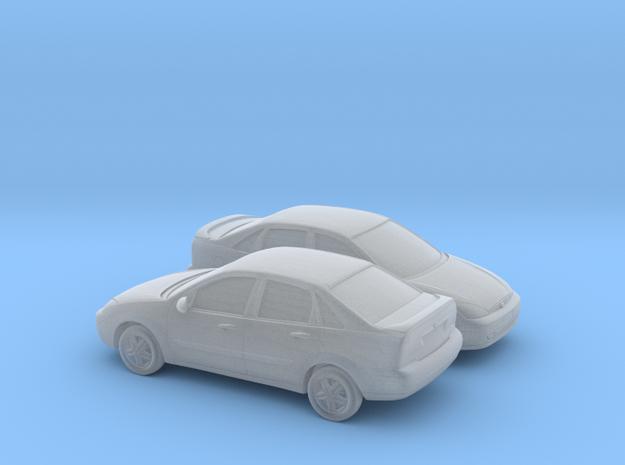 1/148 2X 2000-04 Ford Focus Sedan in Smooth Fine Detail Plastic