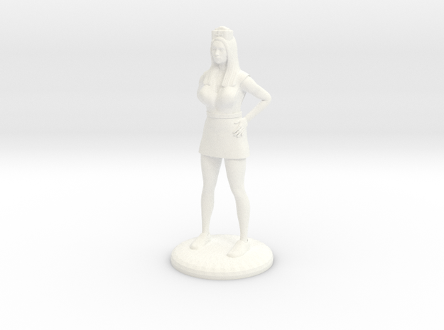 Nurse with Needle - 28 mm version in White Strong & Flexible Polished