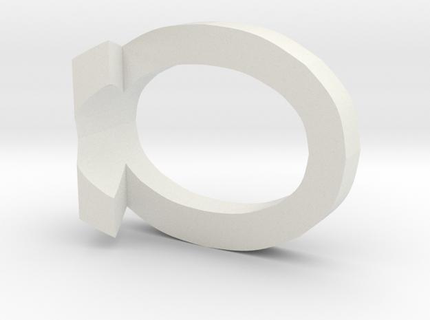 10 3D Monogram Pendant in White Strong & Flexible