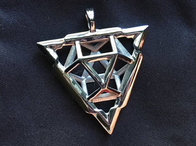TRI-VECTOR SQUEEZE in Rhodium Plated