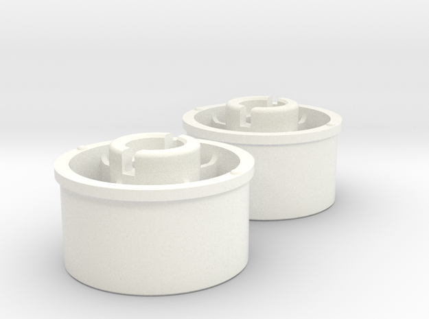 Kyosho Mini-Z Rear wheel with +2 Offset in White Processed Versatile Plastic