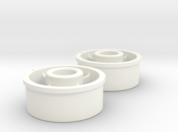 Kyosho Mini-Z Front Wheel +1 Offset in White Strong & Flexible Polished