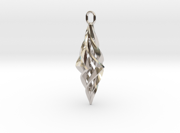 Vision Pendant (small) in Rhodium Plated