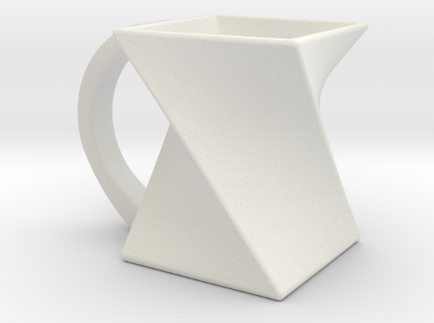 Twisting Mug in White Natural Versatile Plastic