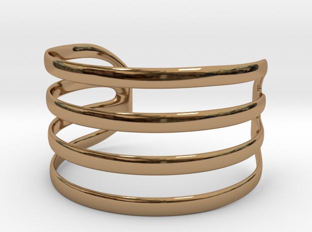 Bangled bracelet in Polished Brass