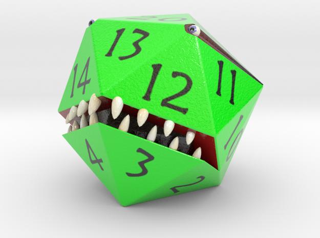 D20 Green Monster Figurine 3d printed