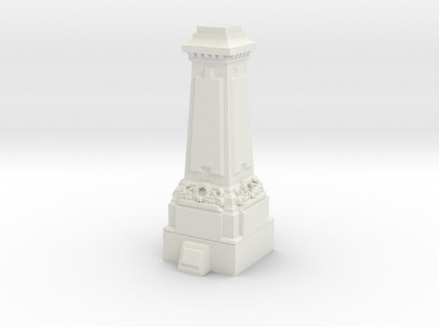 N Gauge Statue Plinth in White Natural Versatile Plastic