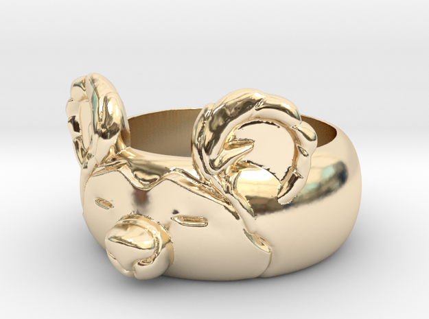 BearRing S9 in 14k Gold Plated Brass