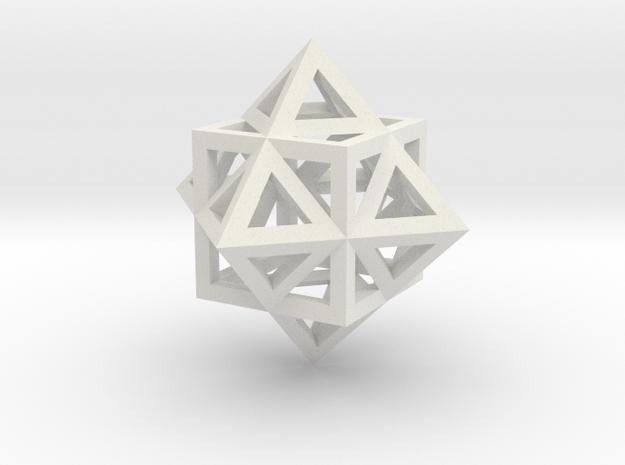 Gamma Star Frame in White Natural Versatile Plastic