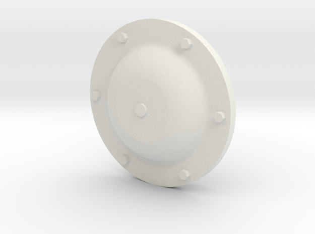IS / ISU supporting roll  hubcap 1/16 in White Natural Versatile Plastic