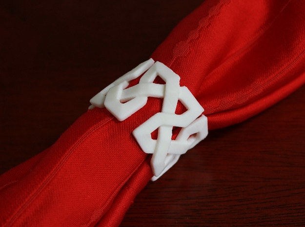 Islamic Napkin Rings - Set of Four in White Strong & Flexible