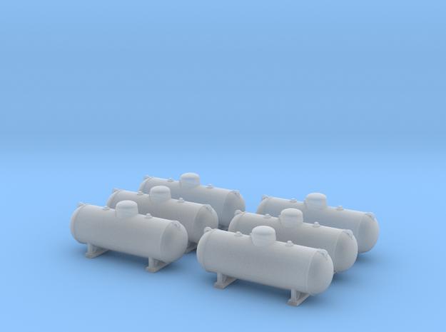 Propane tank 500 gallon. TT Scale (1:120) in Smooth Fine Detail Plastic