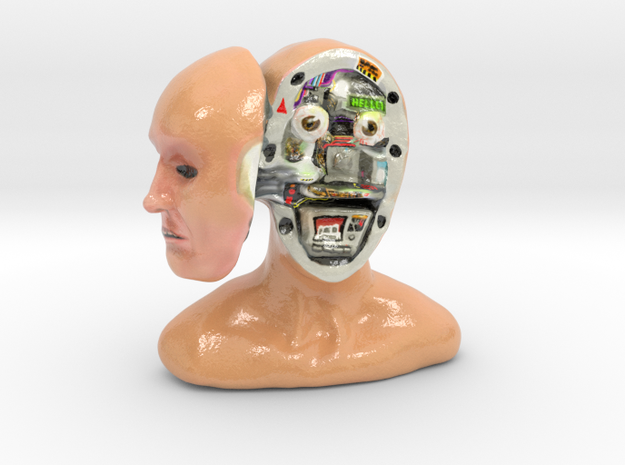Mr. Android in Glossy Full Color Sandstone