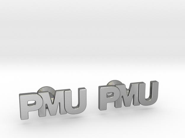 Monogram Cufflinks PMU in Polished Silver