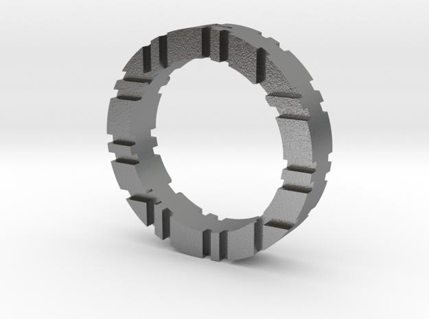 Trinity Ring G in Raw Silver