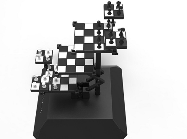 3D Chess 3d printed Top side view