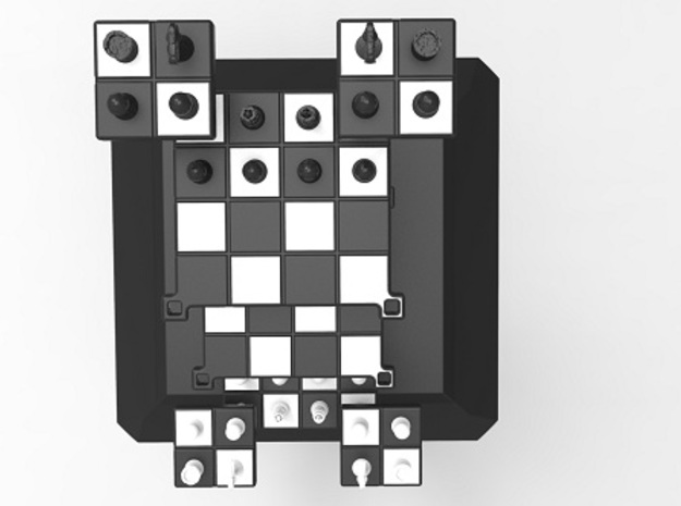 3D Chess 3d printed Top view