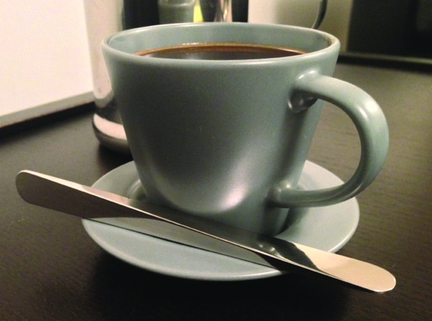 3D symmetry coffee stirrer 3d printed For that special caffeine-loving loved one