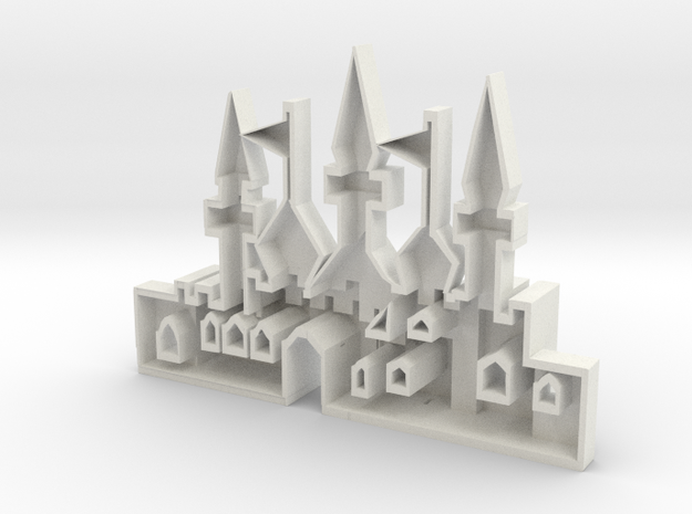 mold of an oriantal city in White Natural Versatile Plastic