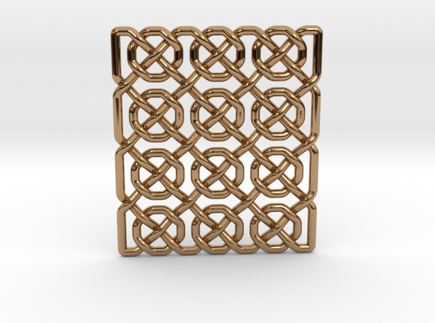 0514 Celtic Knotting - Ibain Grid [p49] in Polished Brass