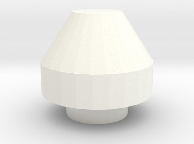 Snorkel air intake cap small D90 Gelande 1:10 in White Processed Versatile Plastic