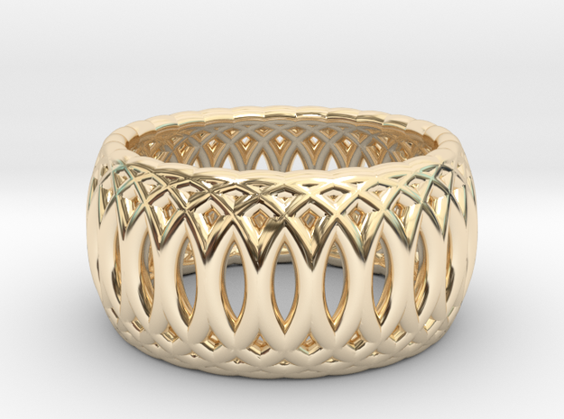 Ring of Rings - 17.1mm Diam in 14k Gold Plated Brass