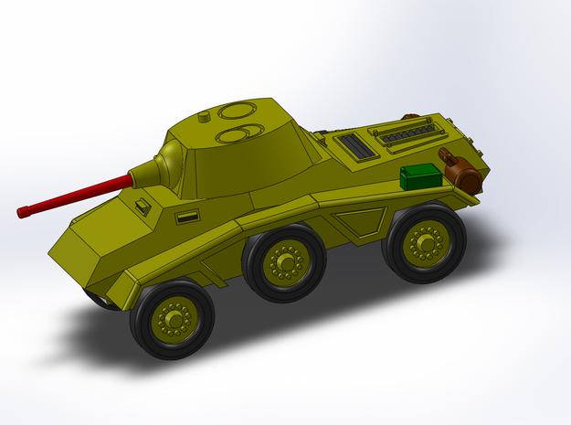 Le Panzerspähwagen 4-Rad trop Kanone 1/285 6 mm 3d printed