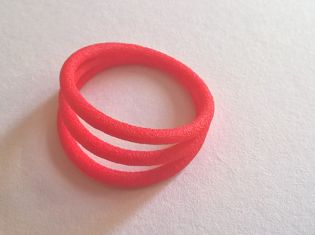 Ring ring Thik - size 52 in Red Processed Versatile Plastic