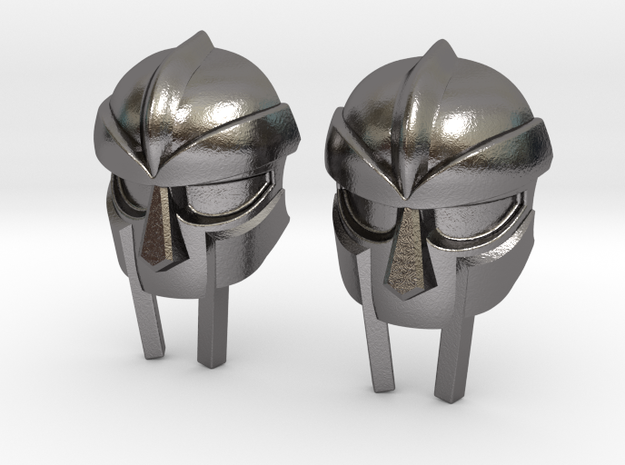 MF Doom Mask Lacelock in Polished Nickel Steel