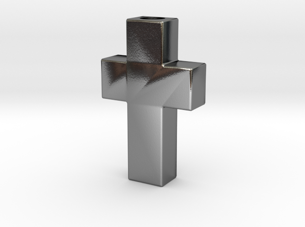Cross - Cruz  in Polished Silver