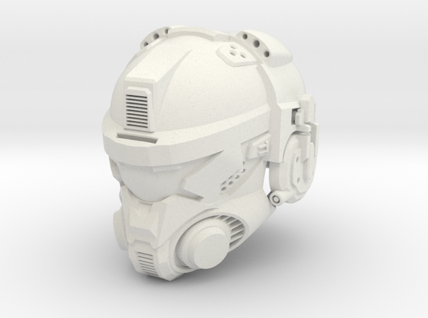 Helmet A  in White Strong & Flexible