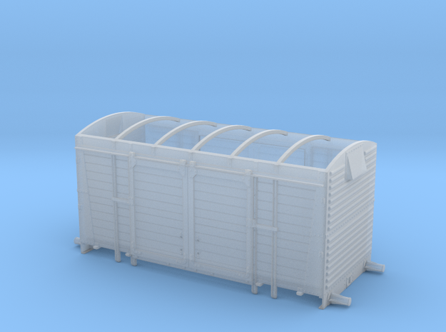 BR/LMS 12 ton Pallet Van body, no roof - 4mm scale in Smooth Fine Detail Plastic