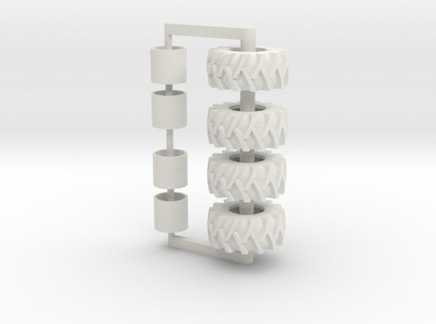 30.5-32 2 Pair Pack in White Natural Versatile Plastic