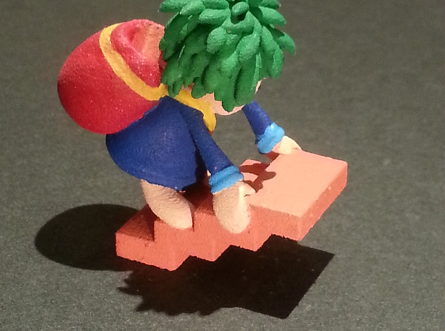 Lemming Builder (Small and White) 3d printed