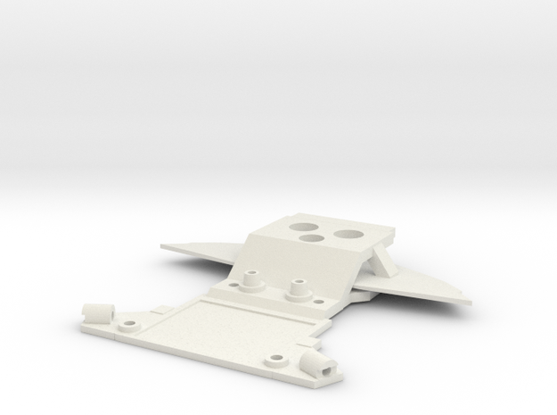 Subchassis V7 C12 Front Holders in White Natural Versatile Plastic